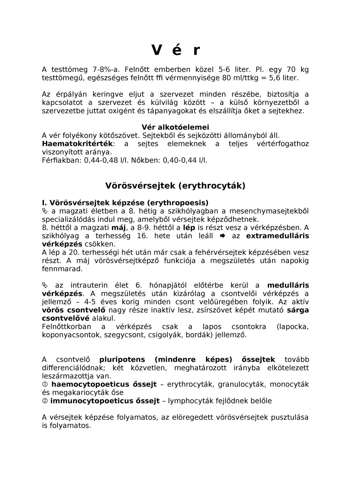 vörösvértestek kenetben férfiakban)