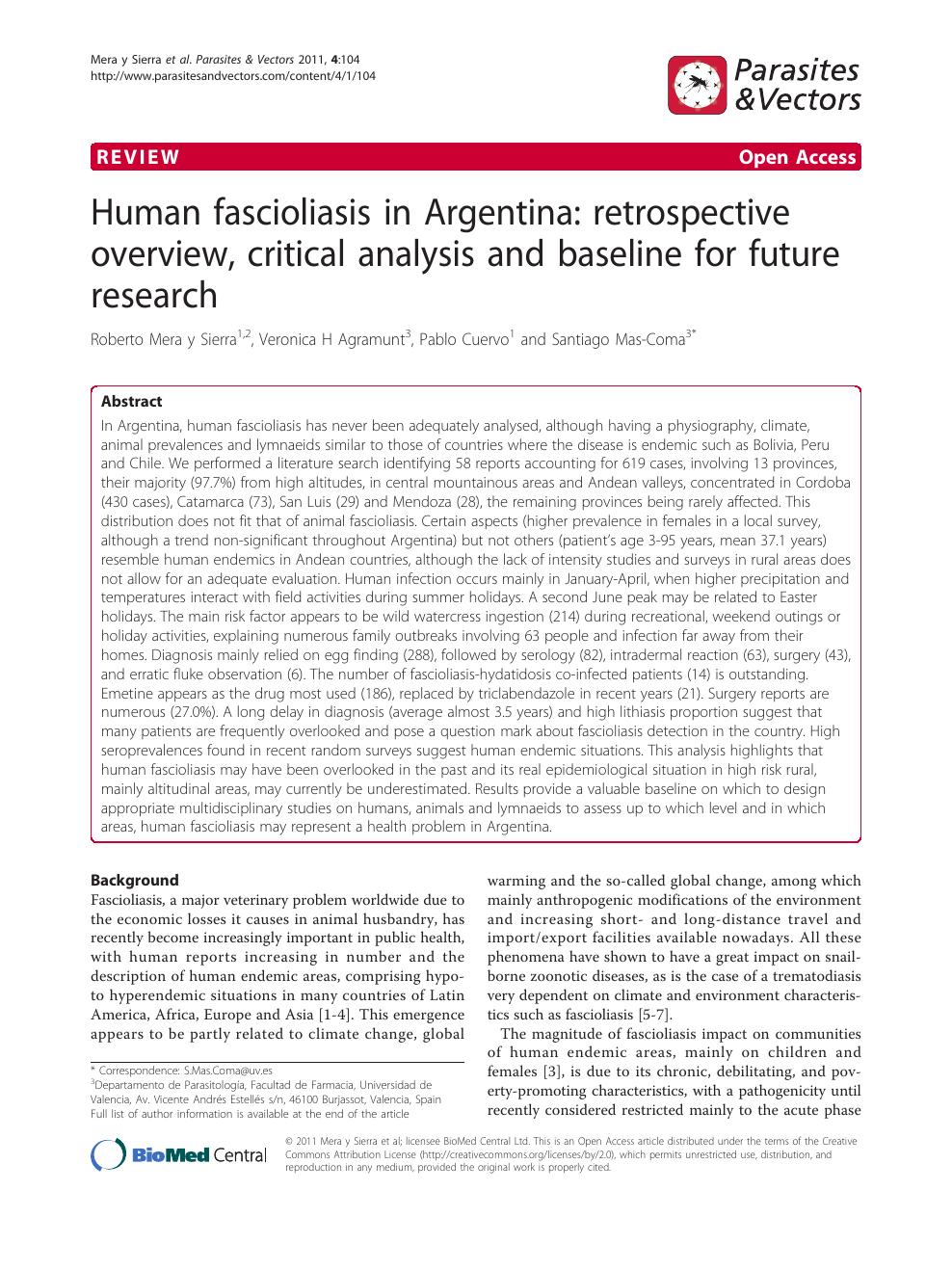 fascioliasis epidemiológia paraziták a máj gyógynövényes kezelésében