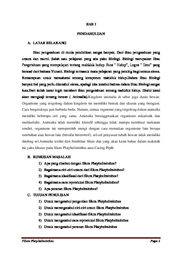peranan platyhelminthes