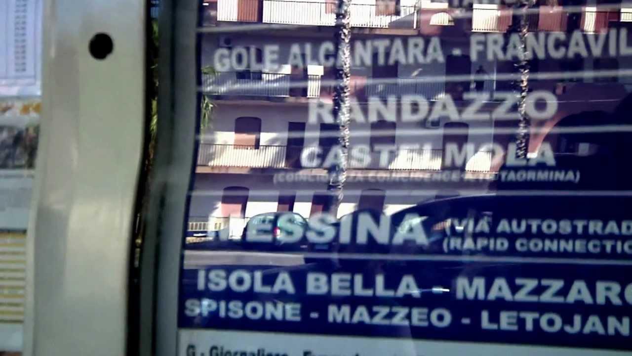 Busz Taormina ↔ Pietrapaola